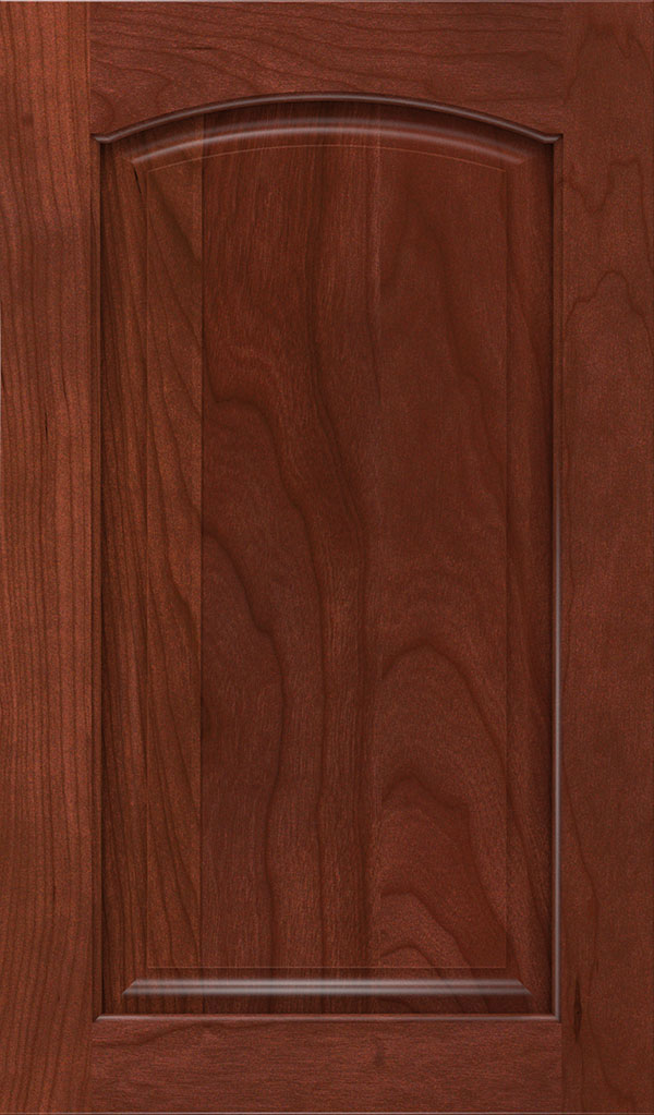 Verona Cherry Arched Raised Panel Cabinet Door in Arlington