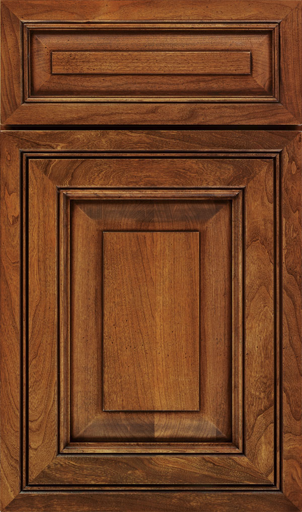 Willshire 5 Piece Cherry Raised Panel Cabinet Door in Bourbon Noir