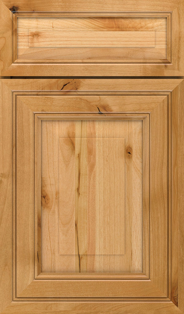 Willshire 5 Piece Rustic Alder Raised Panel Cabinet Door in Natural