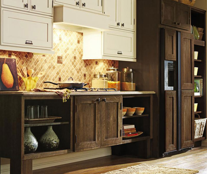 Rustic kitchen cabinets by Decora Cabinetry