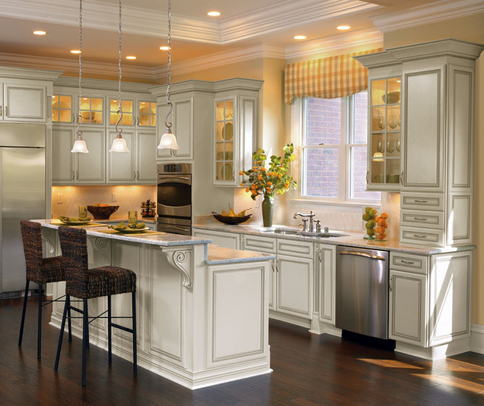 Off White Cabinets with Glaze