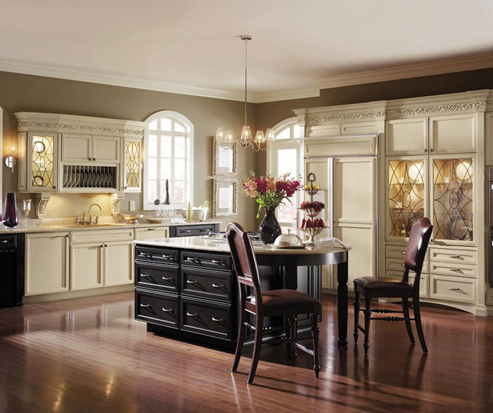Painted Maple Kitchen Cabinets