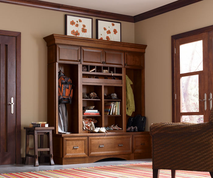 Entry way cabinets by Decora Cabinetry