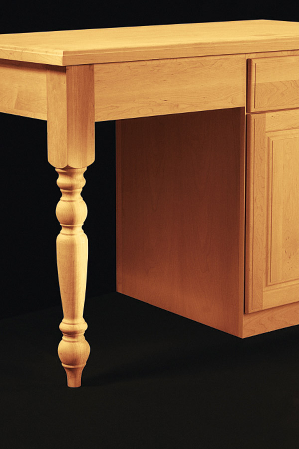 Kitchen island leg