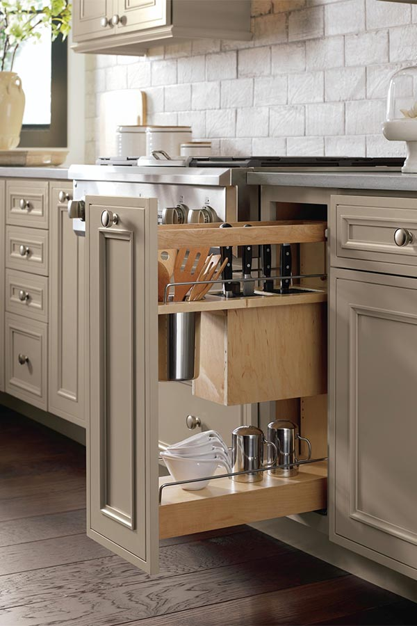 Base Utensil Pantry Pullout Cabinet Knife Block