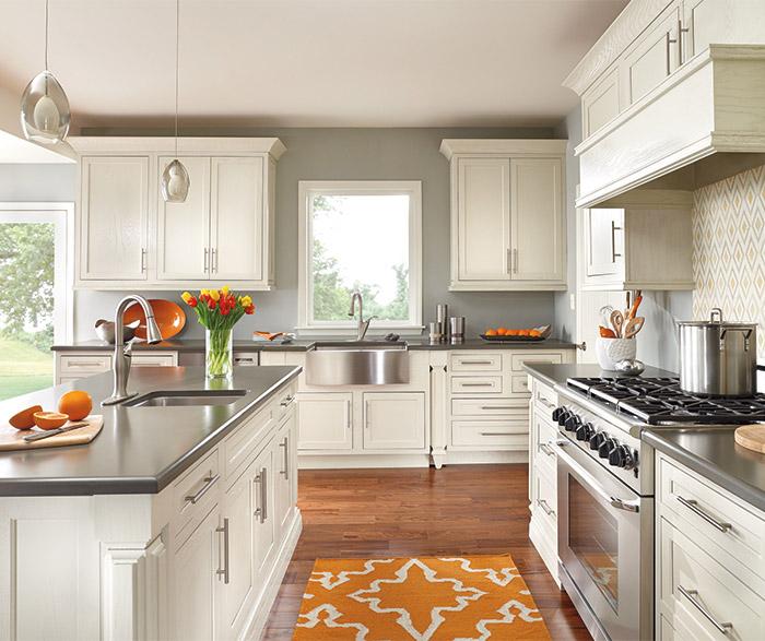 prescott painted oak kitchen cabinets in chantille finish